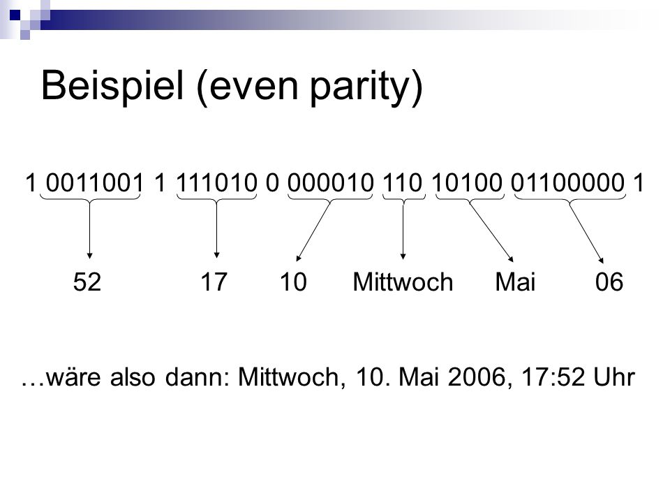 Beispiel (even parity)