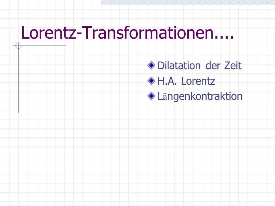 Lorentz-Transformationen....