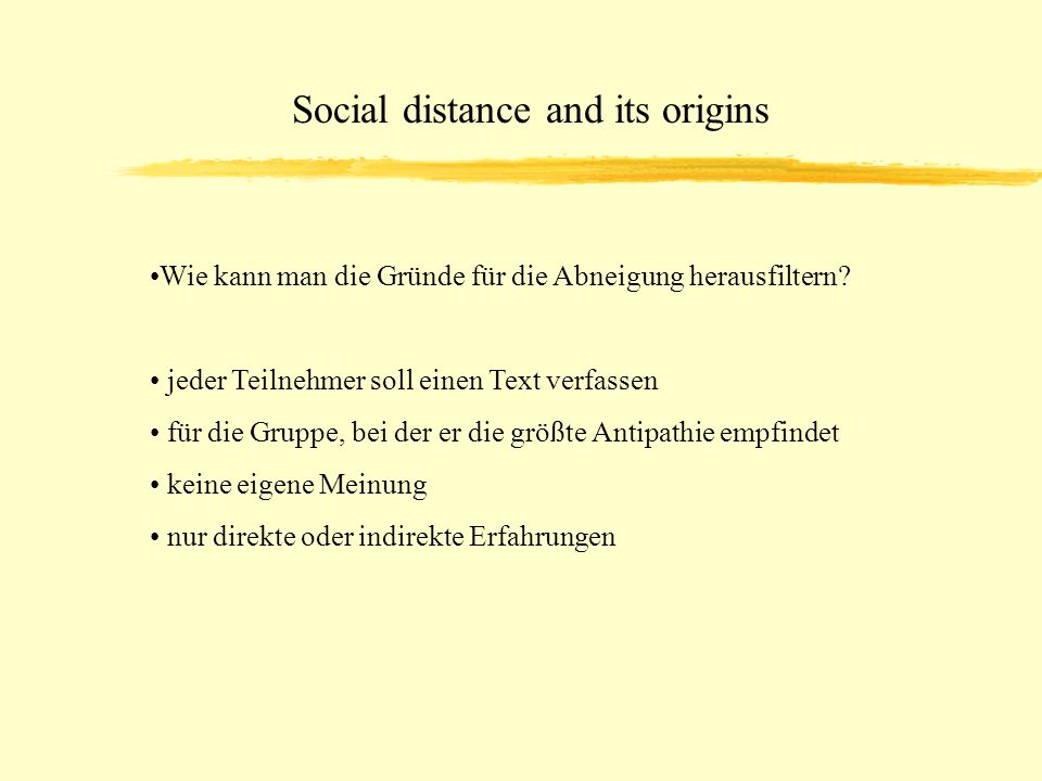Social distance and its origins
