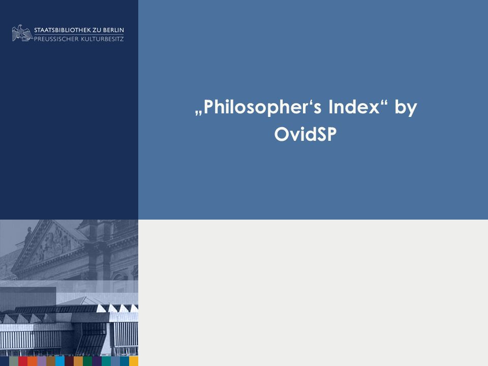 """Philosopher's Index by OvidSP"