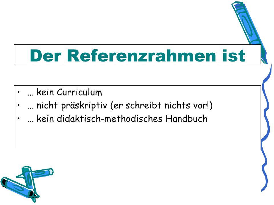 Der Gemeinsame Europäische Referenzrahmen für Sprachen - ppt ...
