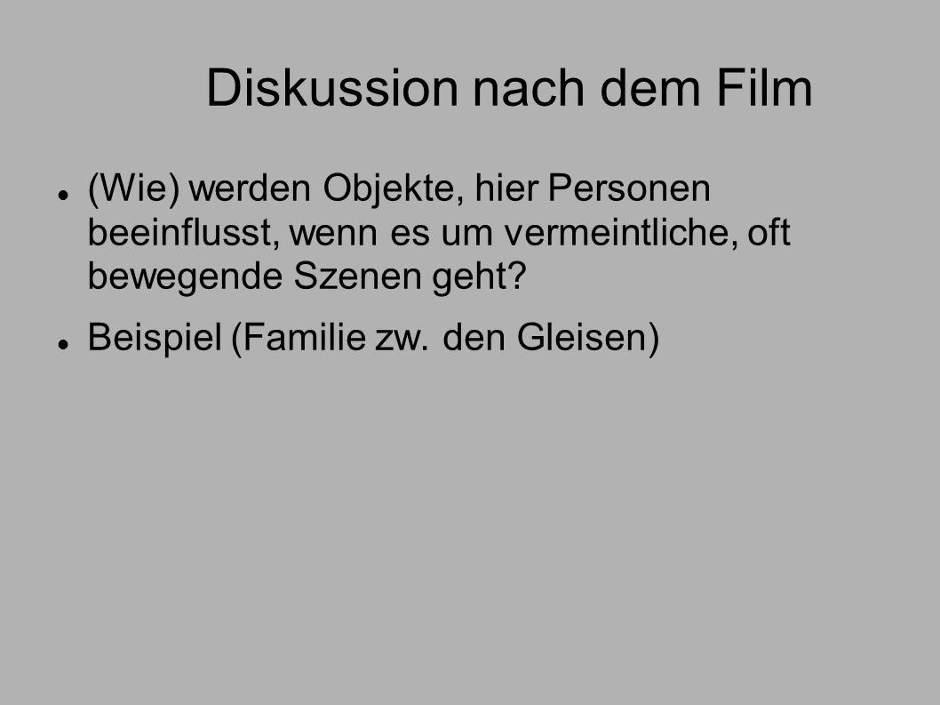 Diskussion nach dem Film