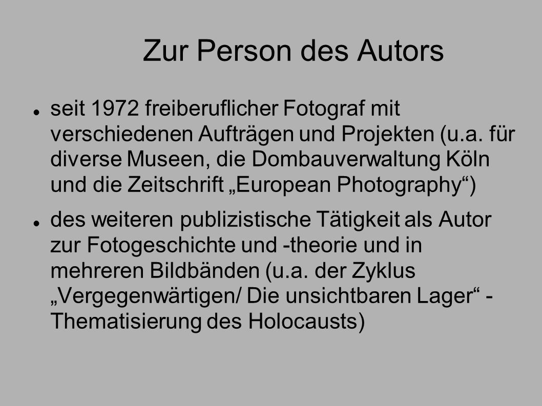 Zur Person des Autors