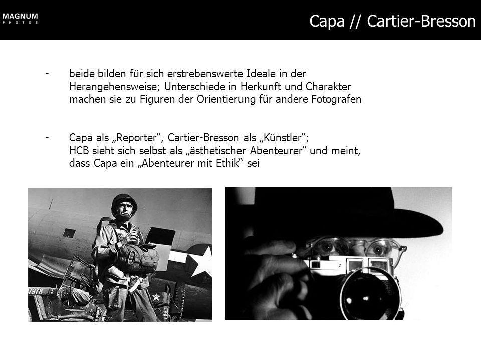 Capa // Cartier-Bresson
