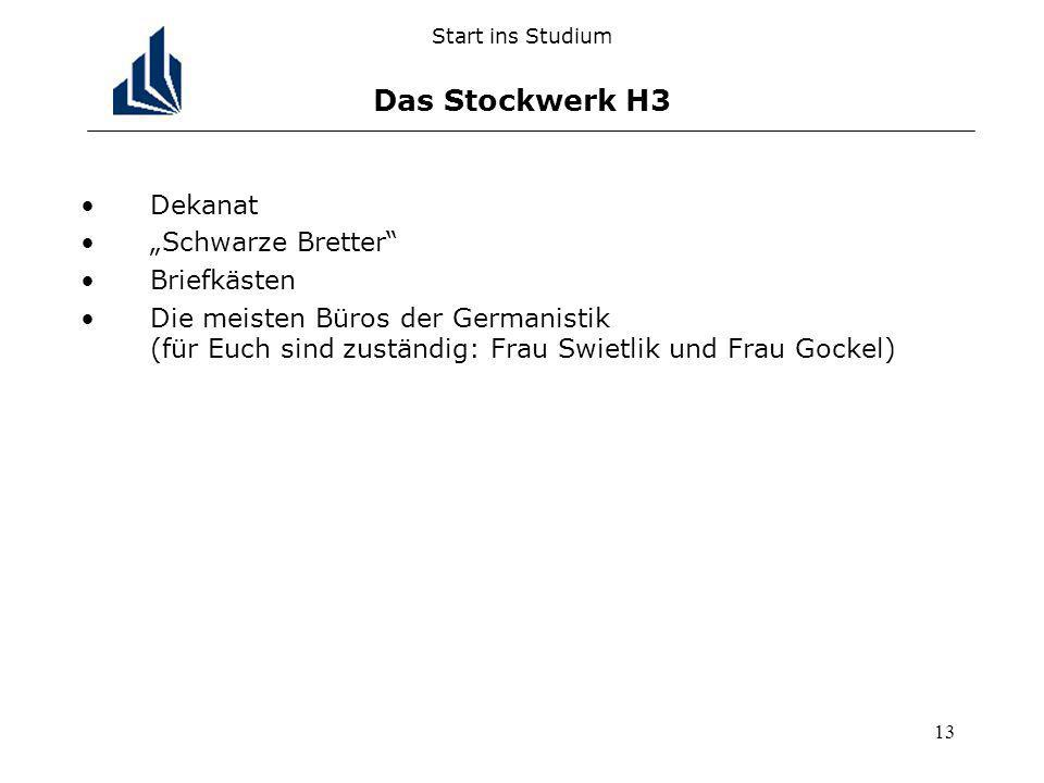 Start ins Studium Das Stockwerk H3