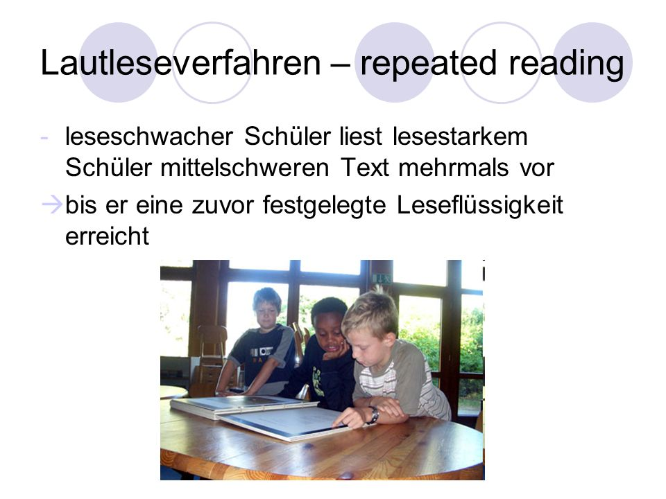 Lautleseverfahren – repeated reading