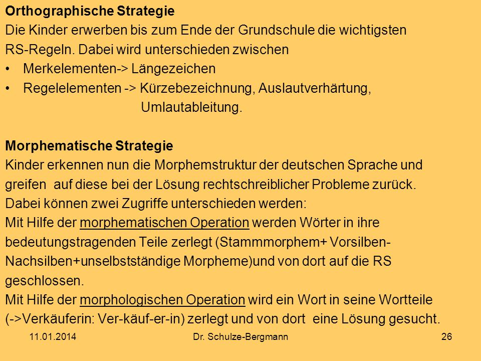 Orthographische Strategie