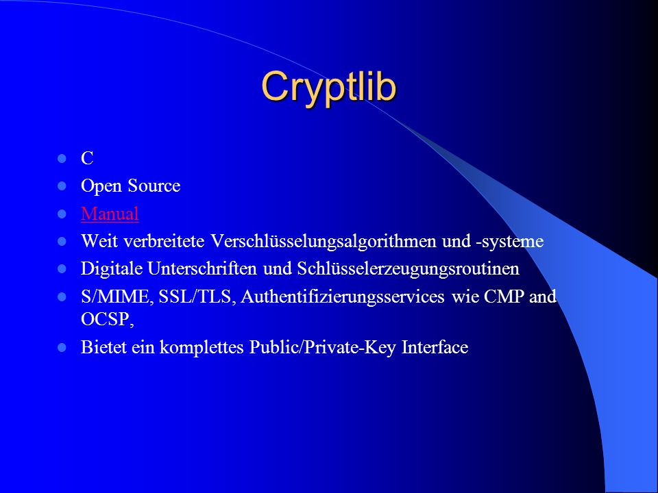 Cryptlib C Open Source Manual