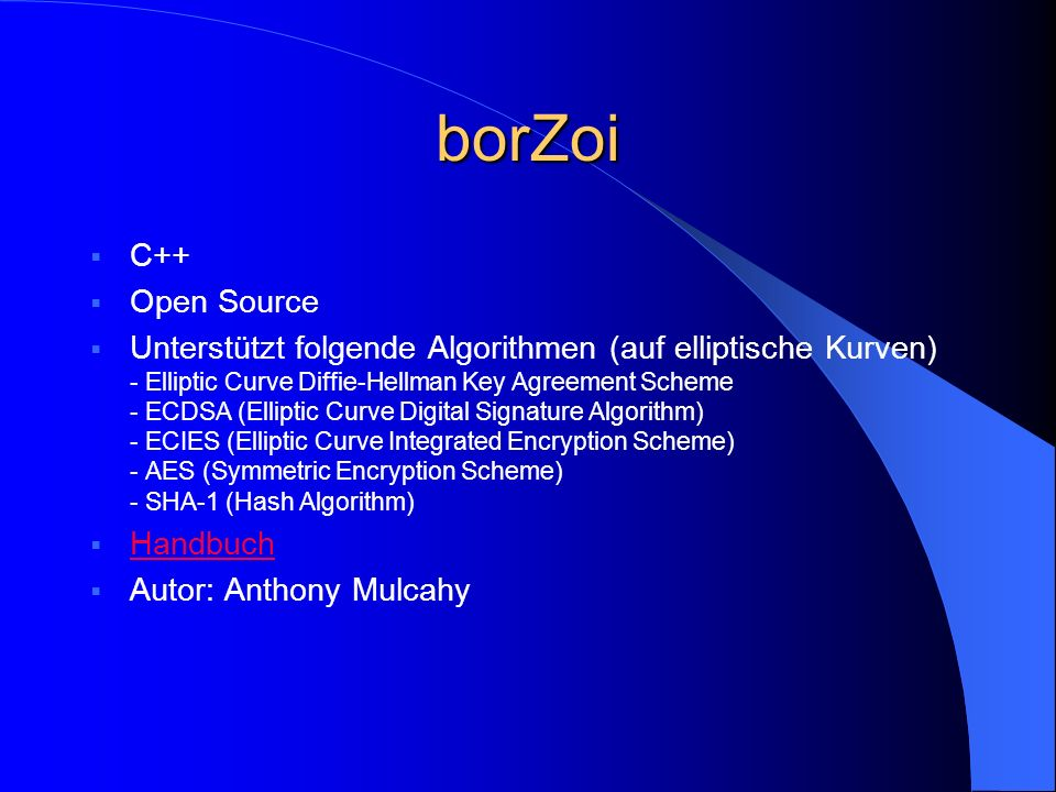 borZoi C++ Open Source.