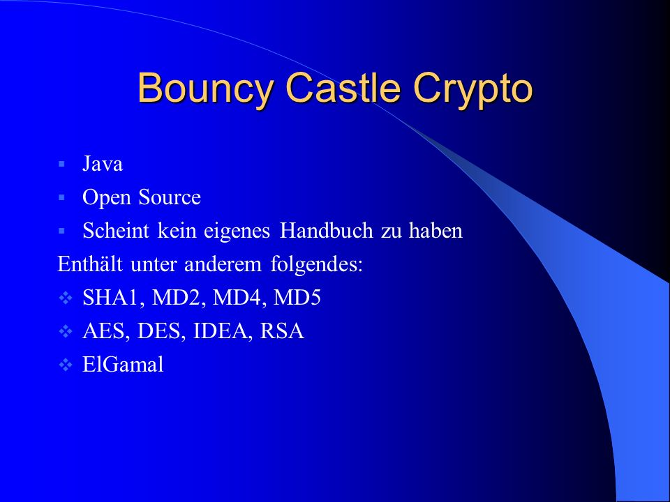 Bouncy Castle Crypto Java Open Source