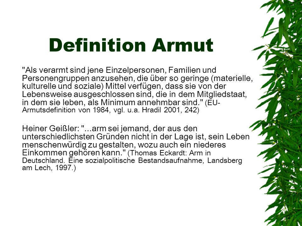 Definition Armut