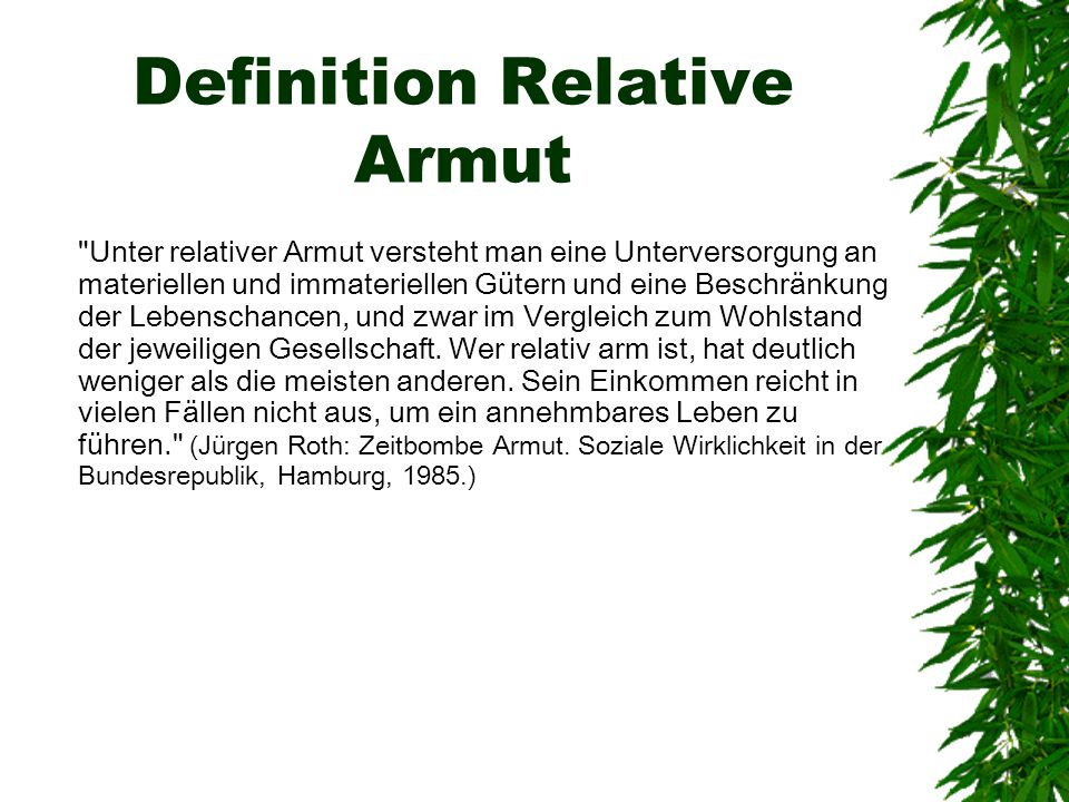 Definition Relative Armut