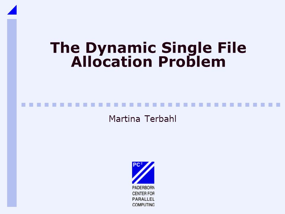The Dynamic Single File Allocation Problem