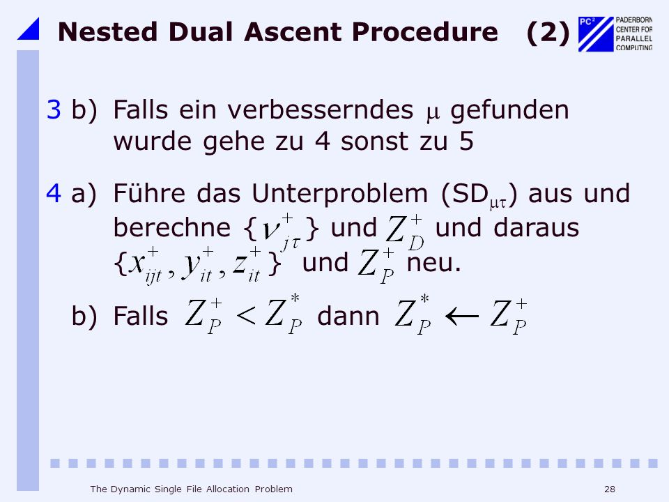 Nested Dual Ascent Procedure (2)