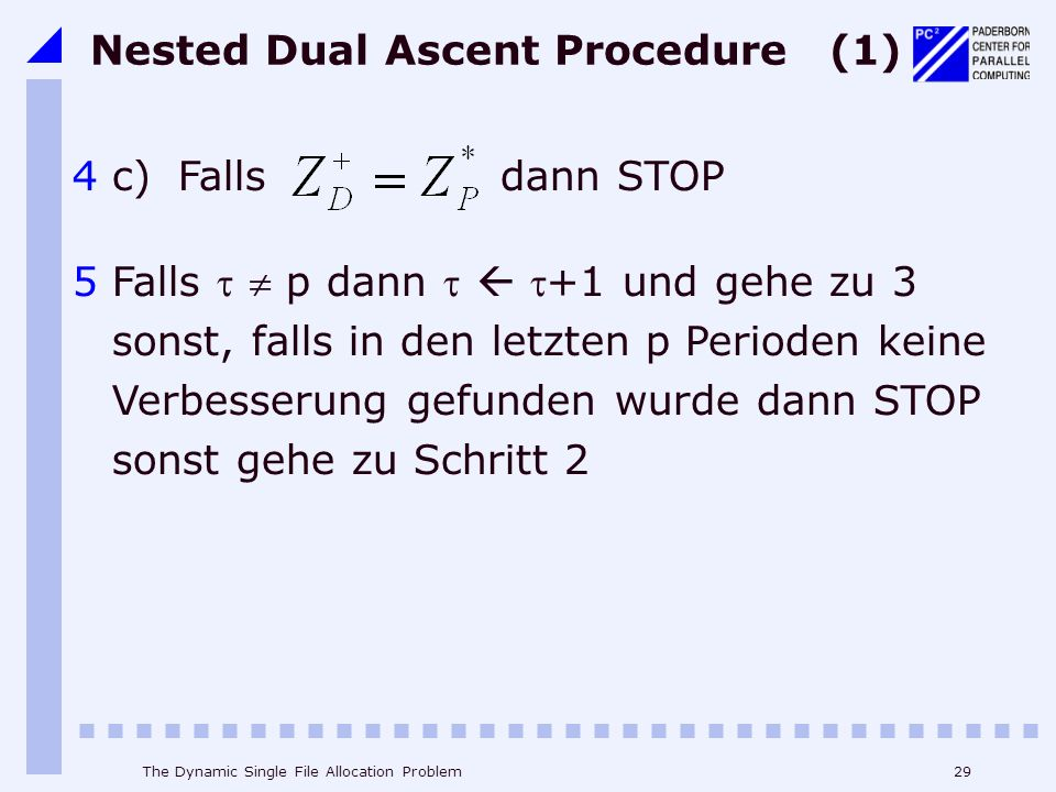 Nested Dual Ascent Procedure (1)