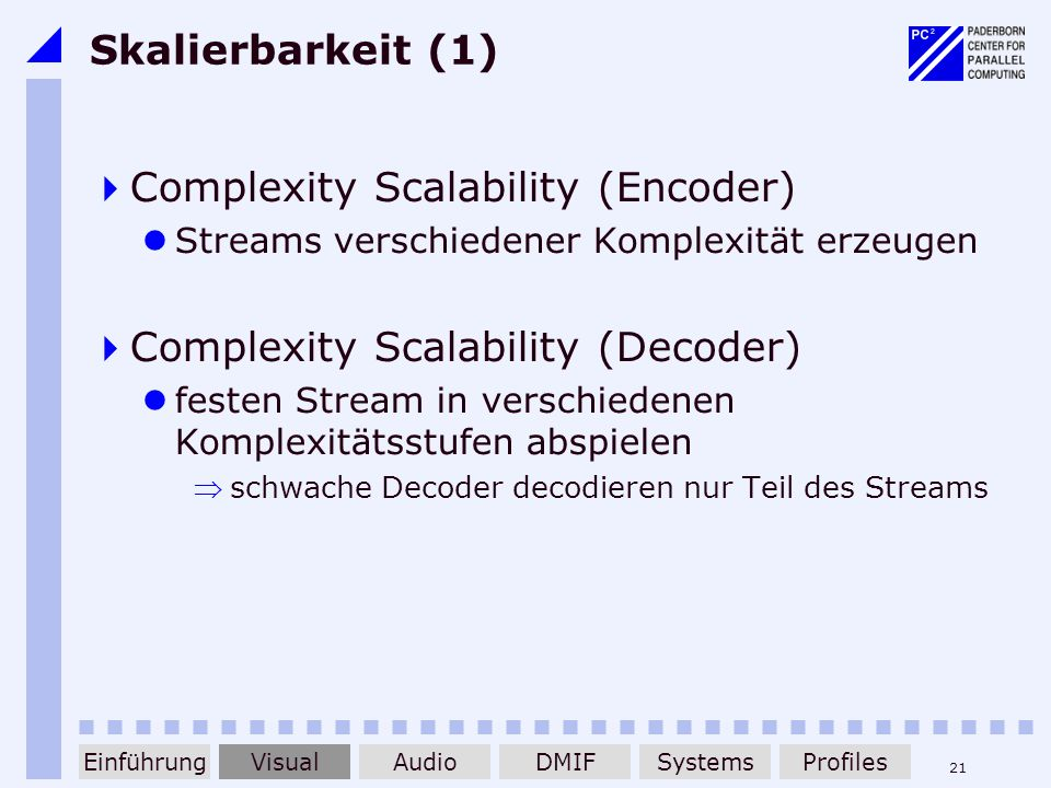 Complexity Scalability (Encoder)