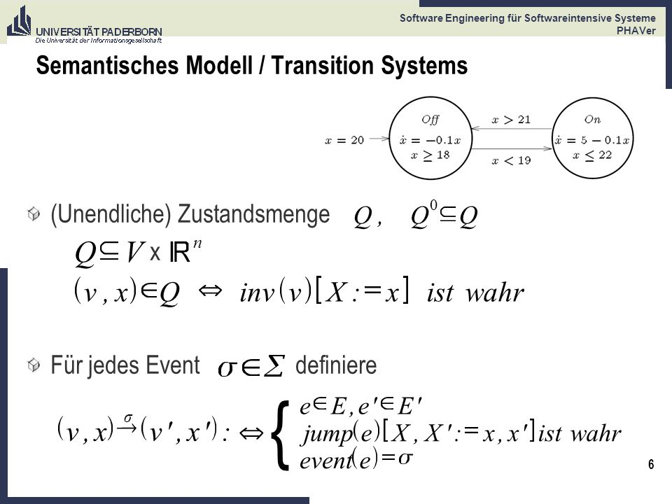 Semantisches Modell / Transition Systems