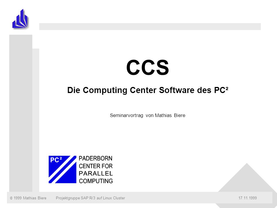 Die Computing Center Software des PC²