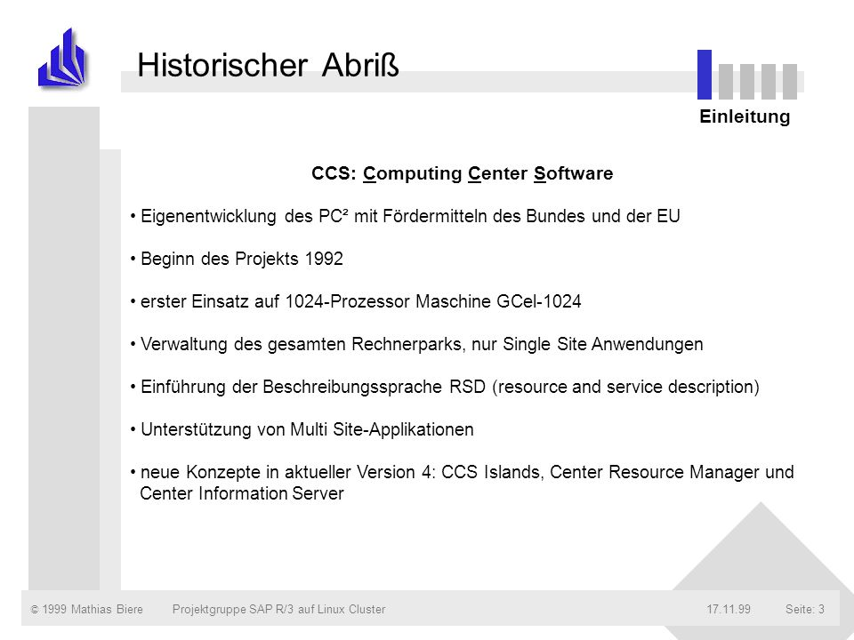 CCS: Computing Center Software