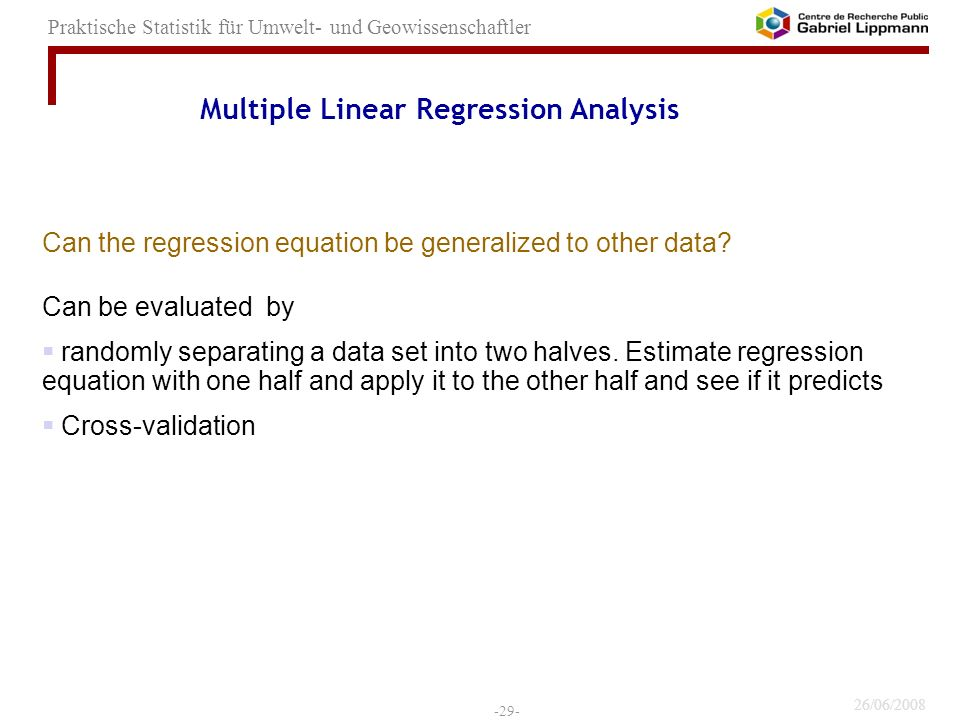 Multiple Linear Regression Analysis