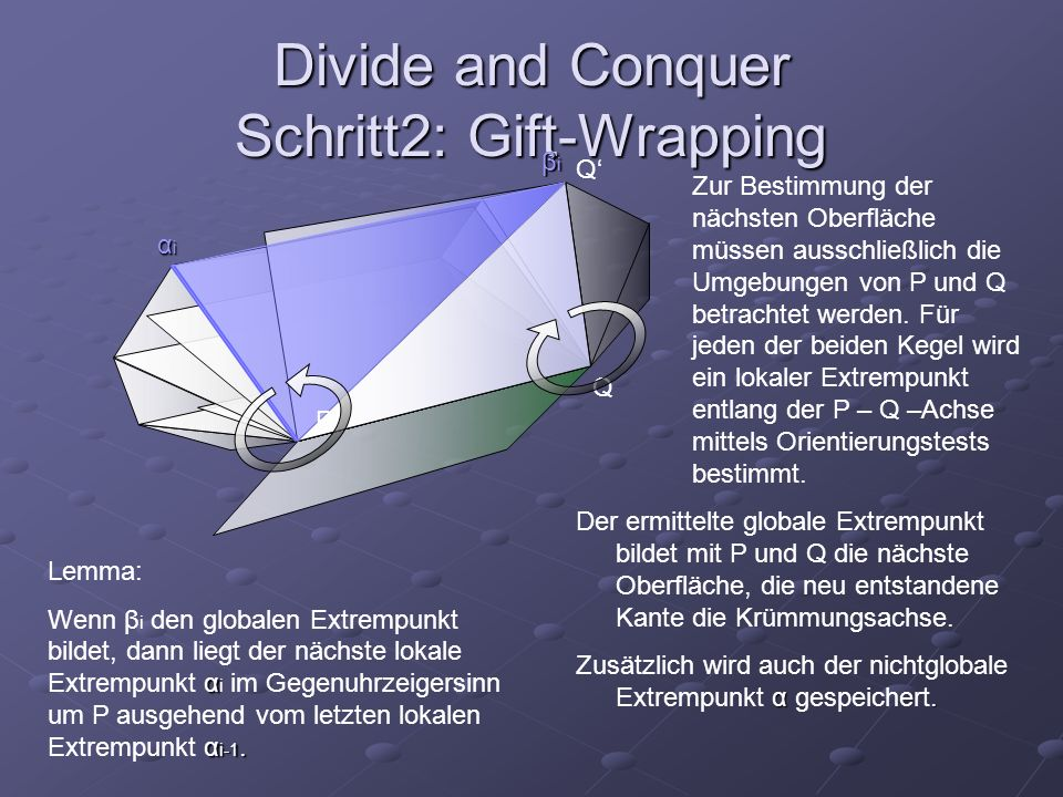 Divide and Conquer Schritt2: Gift-Wrapping