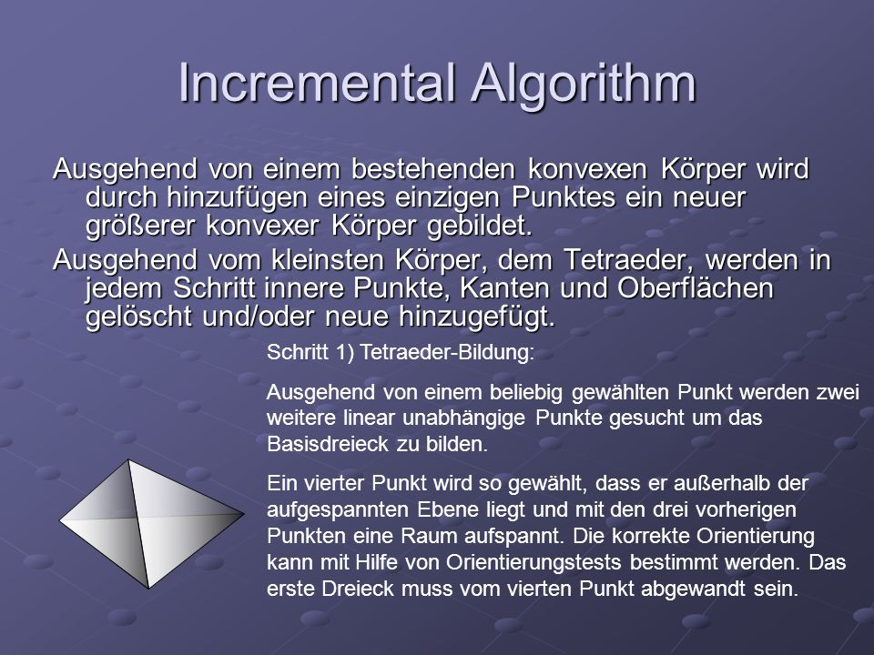 Incremental Algorithm