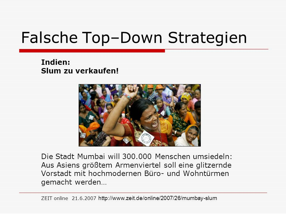Falsche Top–Down Strategien