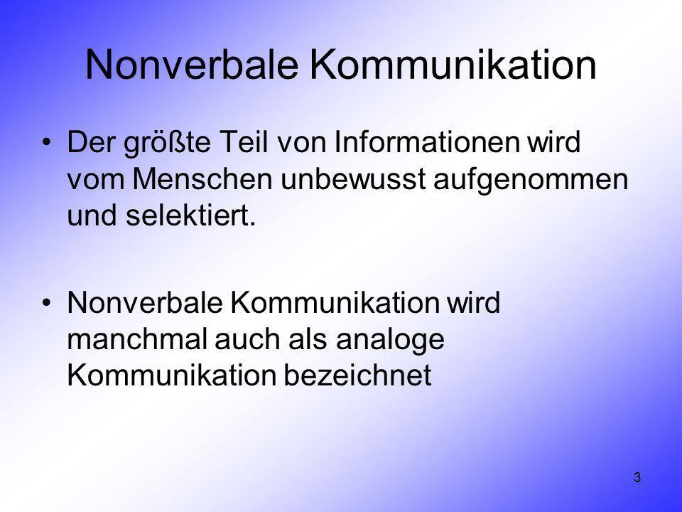 unbewusste nonverbale kommunikation