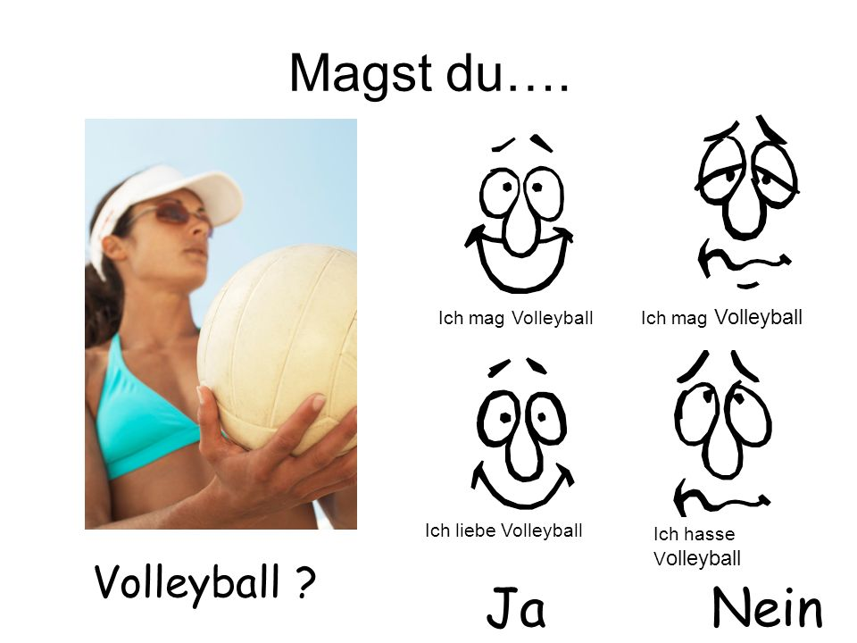 Magst du…. Ja Nein Volleyball Ich mag Volleyball Ich mag Volleyball