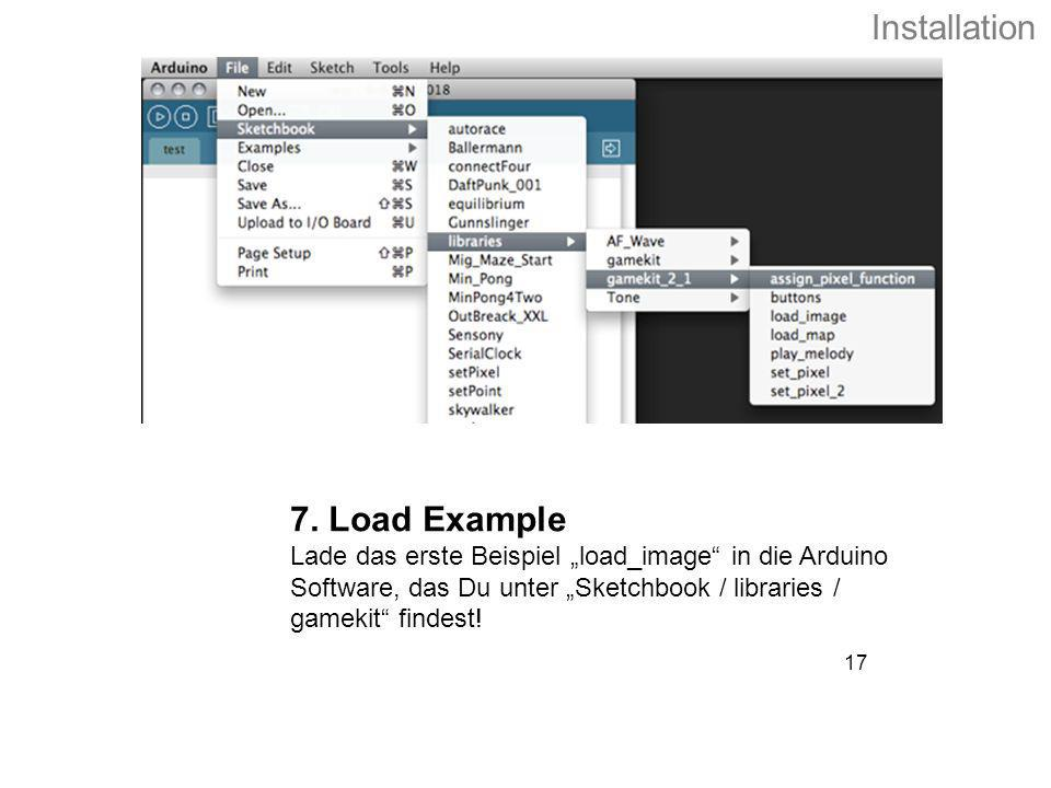 Installation 7. Load Example