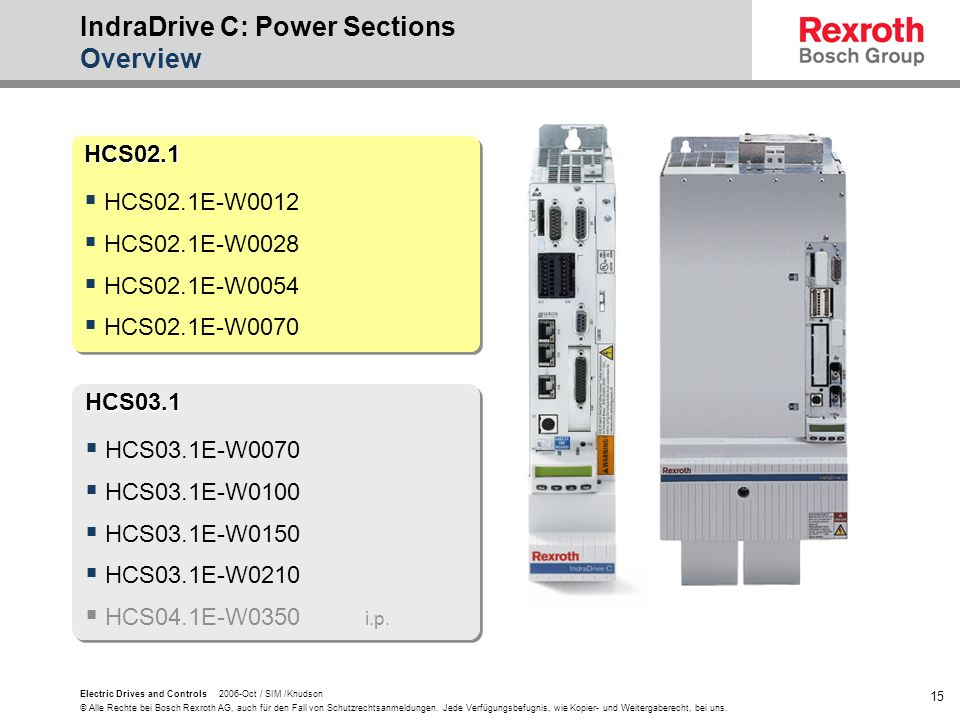 IndraDrive C: Power Sections Overview