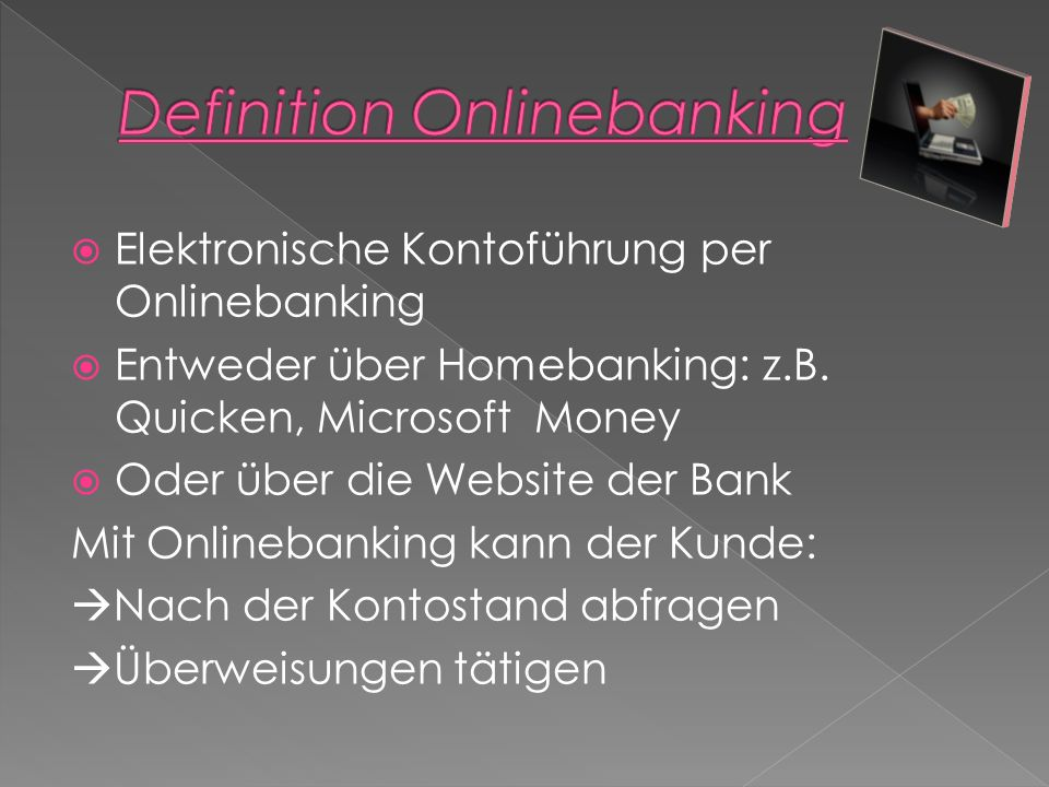 Definition Onlinebanking