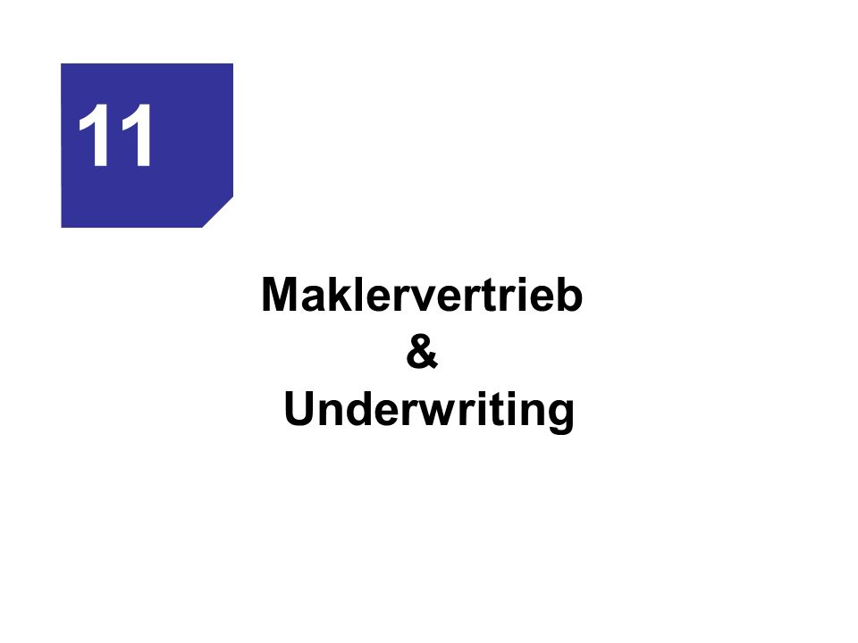 Maklervertrieb & Underwriting