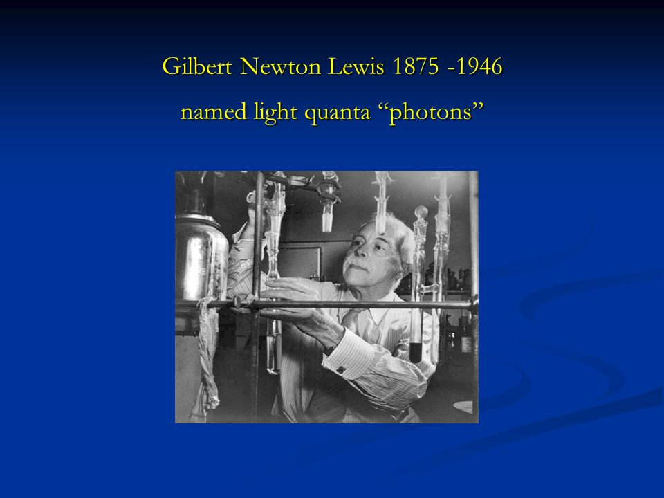 Gilbert Newton Lewis named light quanta photons