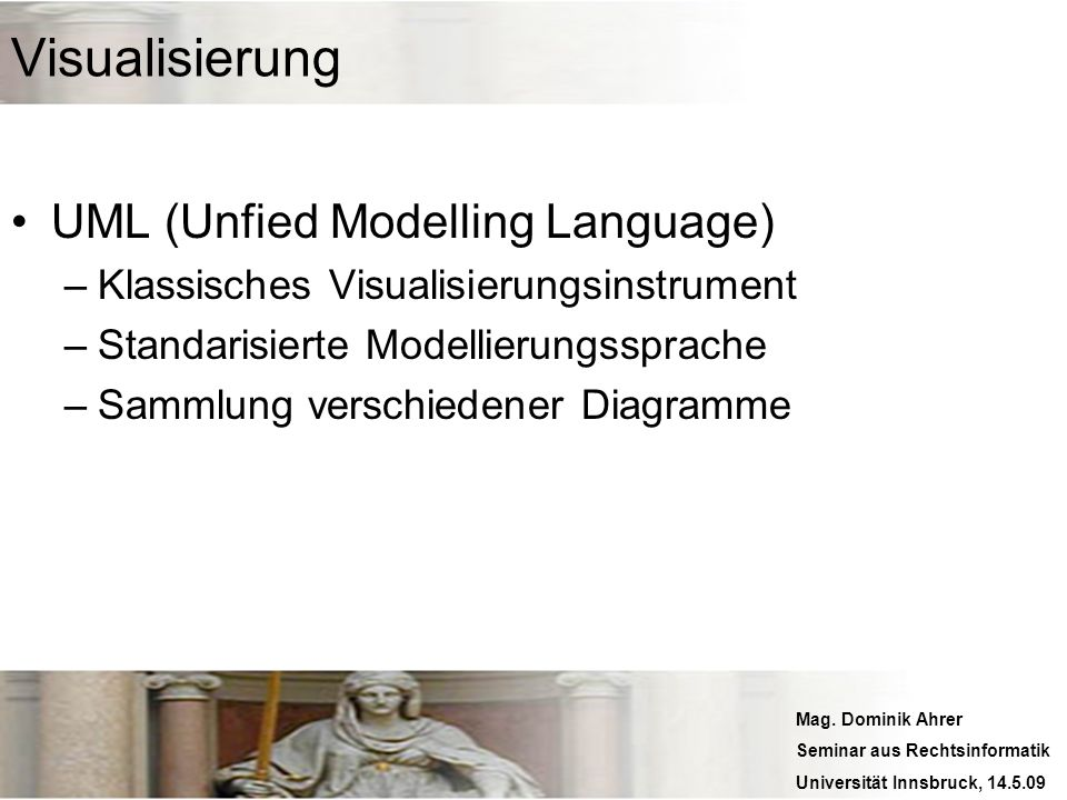 Visualisierung UML (Unfied Modelling Language)