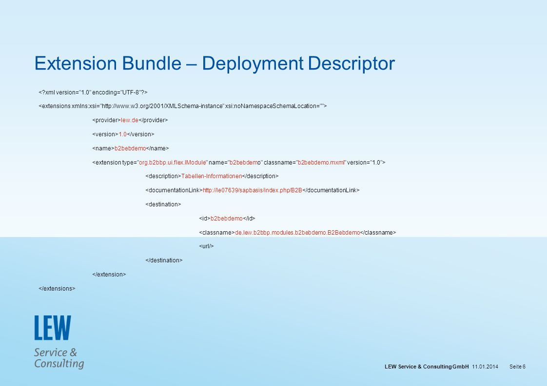 Extension Bundle – Deployment Descriptor