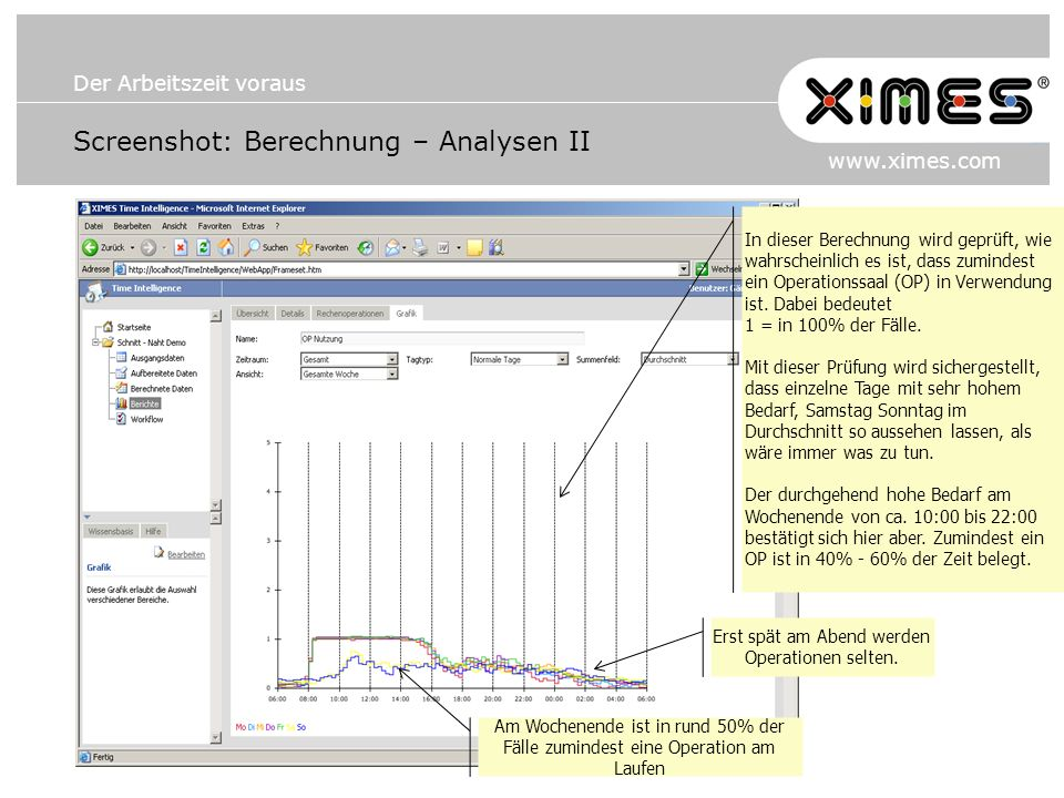 Screenshot: Berechnung – Analysen II