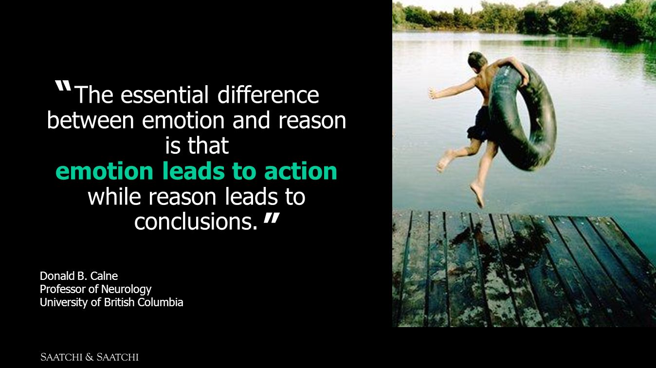 emotion leads to action