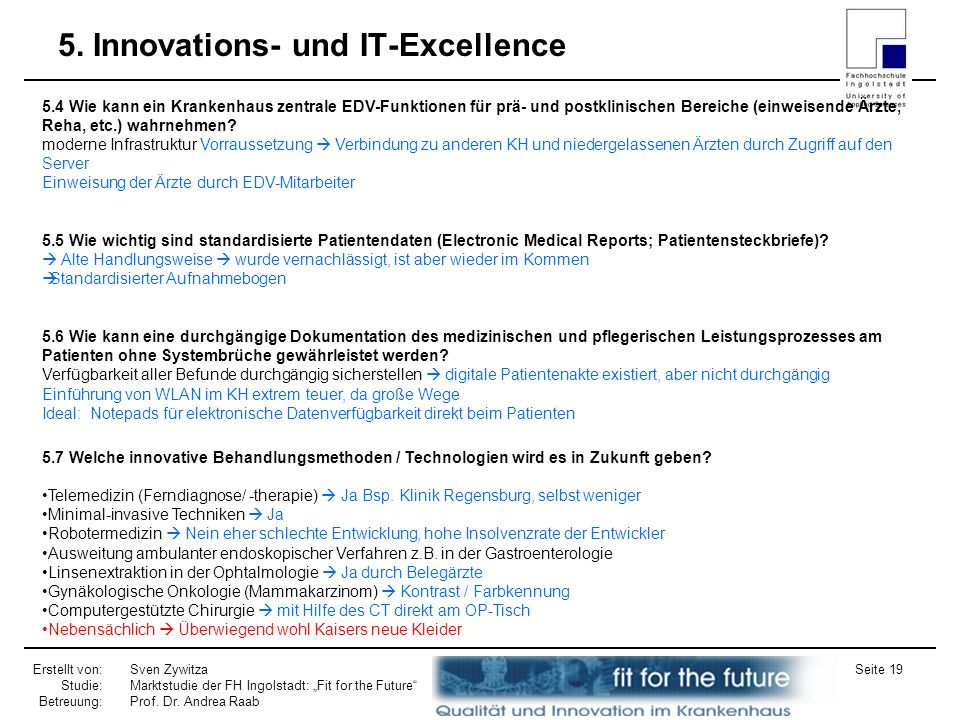 5. Innovations- und IT-Excellence