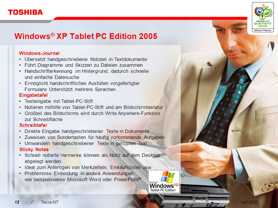 Windows® XP Tablet PC Edition 2005