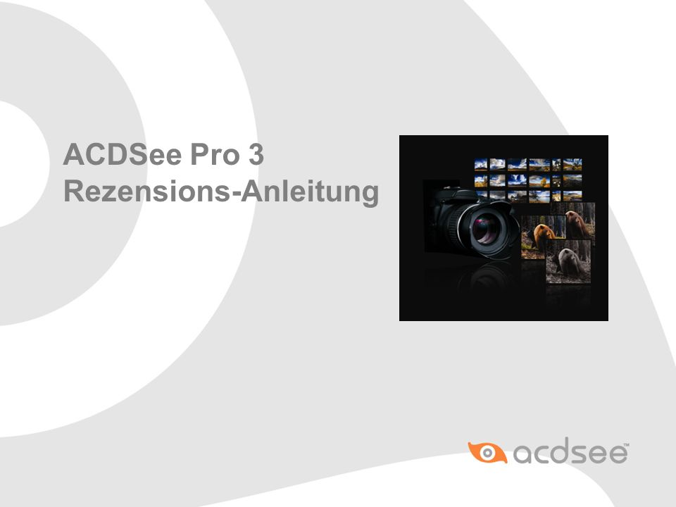 ACDSee Pro 3 Rezensions-Anleitung