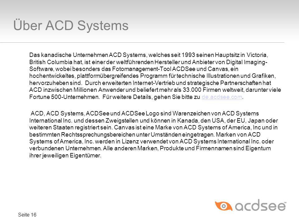 Über ACD Systems