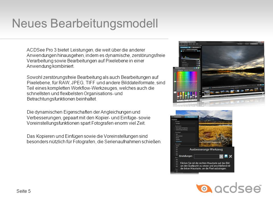 Neues Bearbeitungsmodell