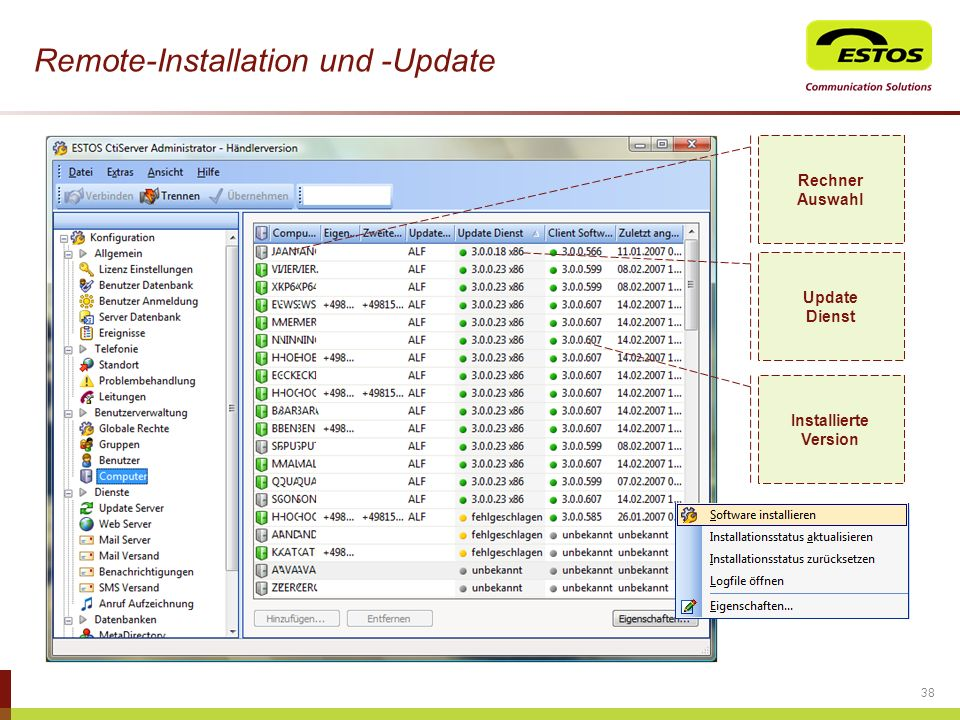 Remote-Installation und -Update