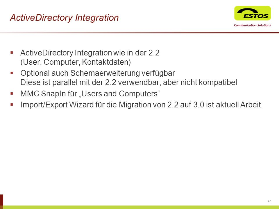 ActiveDirectory Integration
