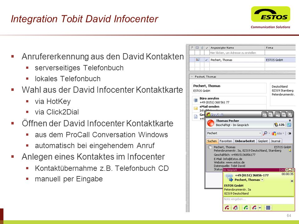 Integration Tobit David Infocenter