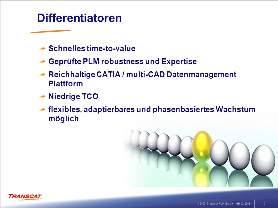 Differentiatoren Schnelles time-to-value