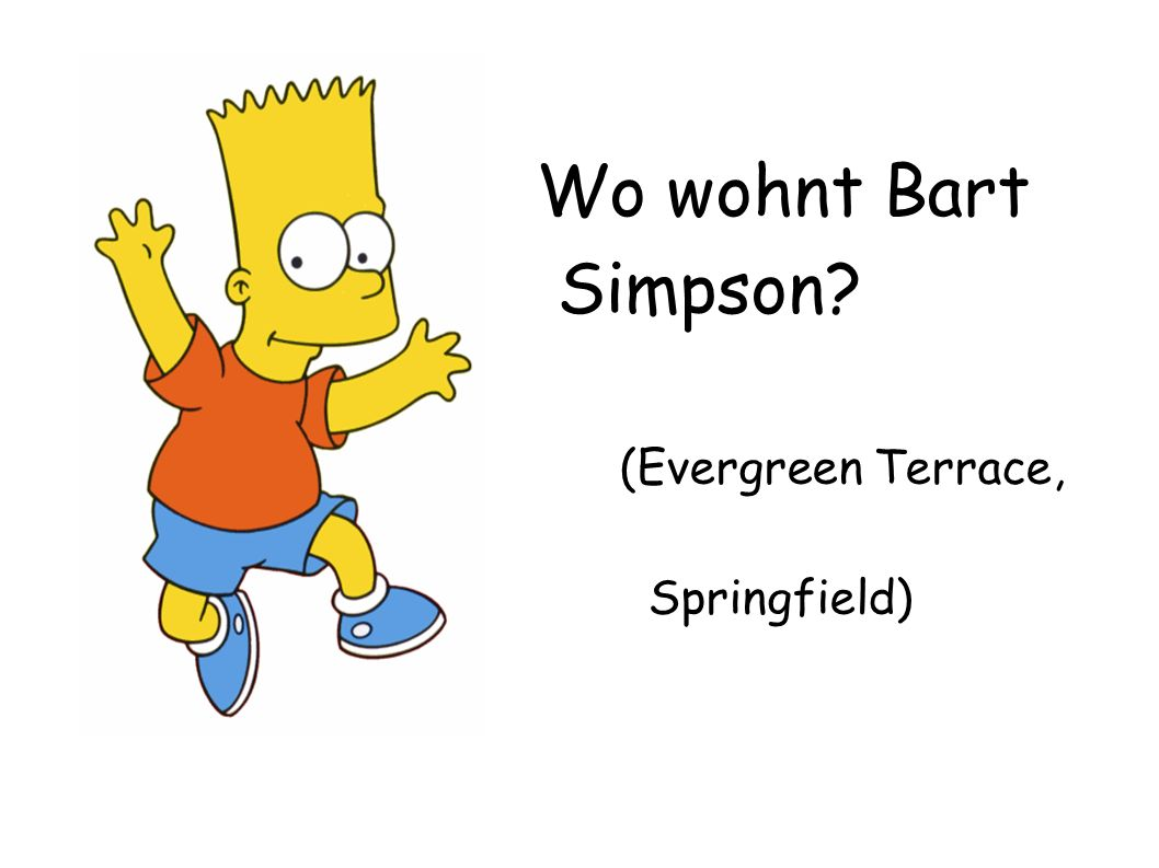 Wo wohnt Bart Simpson (Evergreen Terrace, Springfield)