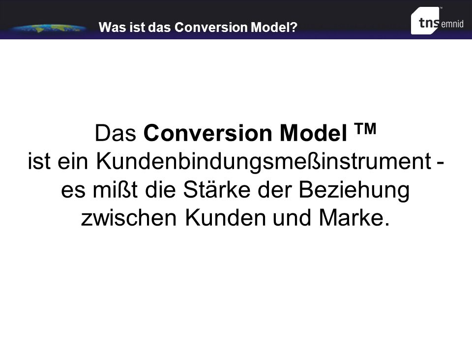 Was ist das Conversion Model