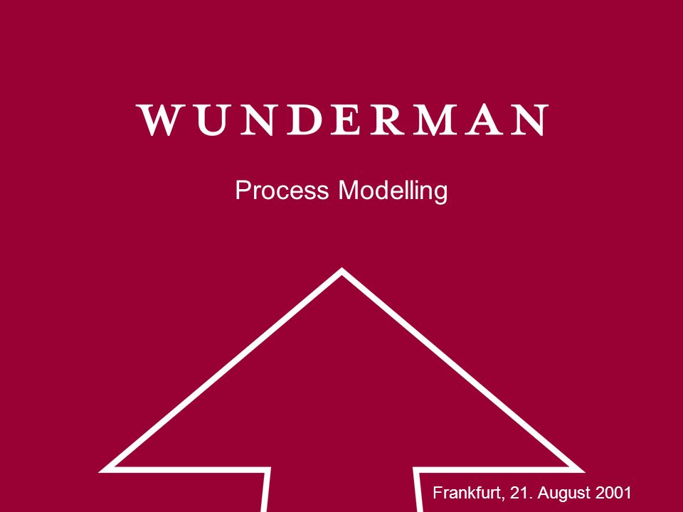 Process Modelling Frankfurt, 21. August 2001